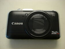 LikeNew Canon Powershot SX230 12MP Digital Camera 14x Optical Zoom - Black
