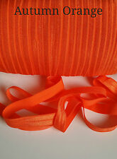 "FOLDOVER BABY HEADBAND ELASTIC SOFT SHINY TRIMMING - 1, 3 & 5 METRE - 5/8"" WIDE"