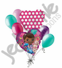 7 pc Doc McStuffins Heart Valentines Day Balloon Bouquet Be Mine Love You