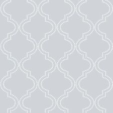 Gray Quatrefoil NU Wallpaper Peel and Stick Wallpaper FREE SHIPPING