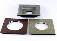 3 Graflex Graphic View Lens Boards - 4x4 outside measurements