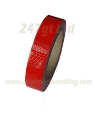 NEW HIGH INTENSITY REFLECTIVE TAPE RED 25mm x 10m