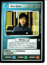 STAR TREK CCG FIRST CONTACT RARE CARD ALYSSA OGAWA