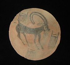 AMAZING ONE OF A KIND! PLATE PAINTED! BEAUTIFUL PAINT  3000BC!  EARLY BRONZE AGE