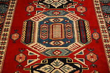 c1930s ANTIQUE COLORFUL CAUCASIAN KAZAK DESIGN AFGHAN CHOBI RUG 5.2x6.2