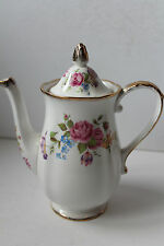 CHAPMANS LONGTON ROYAL STANDARD COFFEE POT ROSE BOUQUET BRITISH PORCELAIN