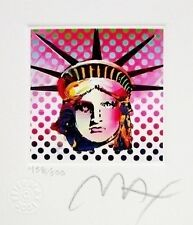 """Great Peter Max SIGNED with COA Liberty Head II, Ltd Ed Lithograph 3.5"""" x 3"""""""