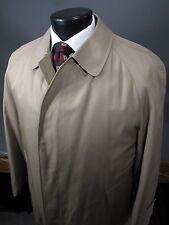 AQUASCUTUM Aqua 5 Classic Trench Coat Khaki Tan 40 - 42 R Wool Removable Liner