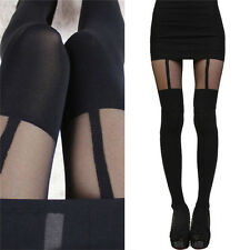 Fashion Women Girls Temptation Sheer Mock Suspender Tights Pantyhose Stocking FG