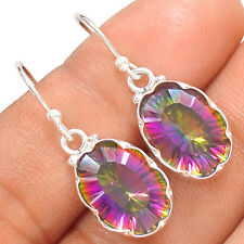 Rainbow Topaz 925 Sterling Silver Earrings Jewelry SE137820