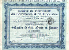 France 1897 Ste Protection Commerce Industrie 100 fr coup issue 6000 uncancelled