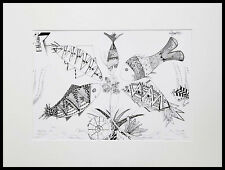 Fish and Flower / Limited Edition print by Xenia Hahonina / A4 + Mount Kit