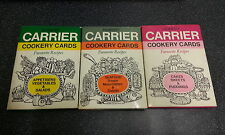 3 DELICIOUS SETS OF ROBERT CARRIER COOKERY CARDS **UK POST £3.25**