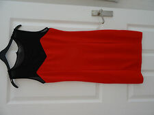 DRESS LADIES RED & BLACK   SIZE  M  NEW NWT  FOREVER 21