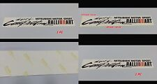 Mitsubishi Motor Sport RALLIART Spirit of Competition Sticker Decals Lancer Evo
