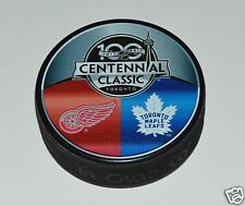 Toronto Maple Leafs vs Detroit Red Wings 2017 Centennial Classic DUELING PUCK