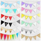 BUNTING Birthday Party Baby Shower Decorations .. FLAG BANNER  .. many colours