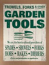 Garden Tools - Tin Metal Wall Sign