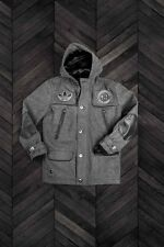 Adidas Dehen Brooklyn Nets Wool Leather Duffle Jacket XXS Small Jeremy Scott Y3