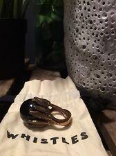 Whistles Black & Brass Metal Statement Ring