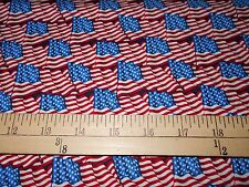"1 yard  Windham ""American Heroes"" Packed Flags Fabric"