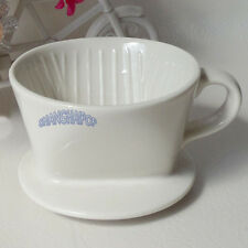 Ceramic Porcelain Coffee Filter Cone Drip Cup Maker Holder W/ Handle Kitchen New