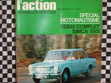 revue 1967 SIMCA 1501 / MERCEDES 230 S / SALON MOTONAUTISME / ACTION AUTOMOBILE