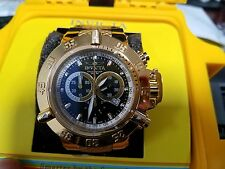 Invicta Men's Unique 5511S Subaqua Chronograph Black Dial Gold-Tone Black Rubber
