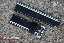 Lum-Tec Watch 22mm 271 White Out Racing Stripe Canvass Strap Buckle NOT Included