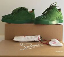 Christian Louboutin Louis Junior Spikes Flat Suede Amazone size 43