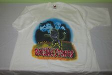 Vntg 1997 ROLLING STONES Concert Tour T  Shirt  XL - White - Bridges to Babylon