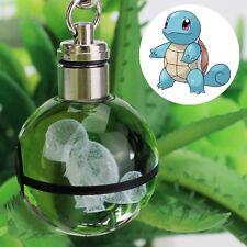 3D LED Pokemon Squirtle Boule de Cristal Lumière Veilleuse Porte Clés Cadeau