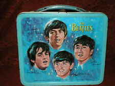 Vintage Blue 1965 The Beatles Music Aladdin Metal Lunchbox