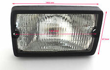 Cabin Lamp Pair 2 Unit Front Glass Wor Light Beam For JCB/ ACE With Black Finish