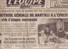 journal  l'équipe  du 18/07/48 CYCLISME TOUR DE FRANCE 1948 BOBET  et SA FEMME