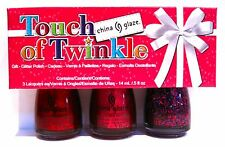 China Glaze TOUCH OF TWINKLE 3-pc Polish Set~81390 CLAWS 81391 SANTA 81393 MERRY