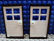 LEGO LEGOS  -  NEW Set of 2 Door & Frame 1 x 4 x 6 BLACK / WHITE