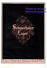 Brauerei Schwechat Wien XL Reklame 1941 Schwechater Lager Bier Beer Vienna