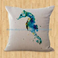 US SELLER- throw pillows Sea life marine seahorse ocean animal cushion cover
