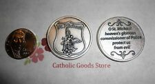 St. Saint Michael the Archangel - Police Shield + Prayer- Pocket Coin