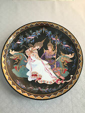 """Love Story of Siam """"The Coronation Preparation"""" Porcelain Plate, NEW with COA"""