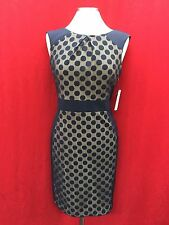 """SANDRA DARREN DRESS/NEW WITH TAG/SIZE 18/RETAIL$129/ LENGTH 39""""/NAVY/LINED"""