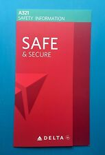 DELTA AIRLINES SAFETY CARD--AIRBUS 321--OCT 2016
