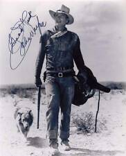 JOHN WAYNE cowboy star of motion pictures autographed 5 x 7 photo