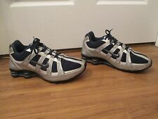 Used Worn Size 10 Nike Shox NZ Turbo Mesh Shoes Navy Silver White