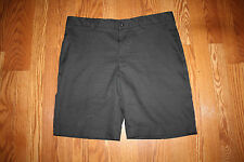 NWT Mens Greg Norman Signature Series Flat Front Black Gray Golf Shorts Size 36