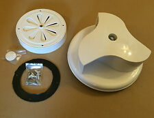 Rotary Wind Driven WHITE Van Roof Vent For Vans, Trucks, Motor Home, Pets Dogs