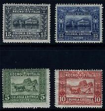 ERITREA ITALY COLONY SCOTT# 47-49, 50b SAS# 34, 35a, 36-7 MINT HINGED AS SHOWN