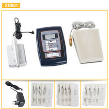 Pro Permanent Makeup Tattoo Machine Pen Needles Pedal LCD Power Supply Set Kit