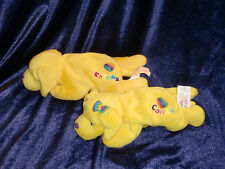 "LISA FRANK LOT OF 2 BEAN BAG PLUSH DOGS GOLDEN RETRIEVER CANDY & CAYMUS 9"" 1998"